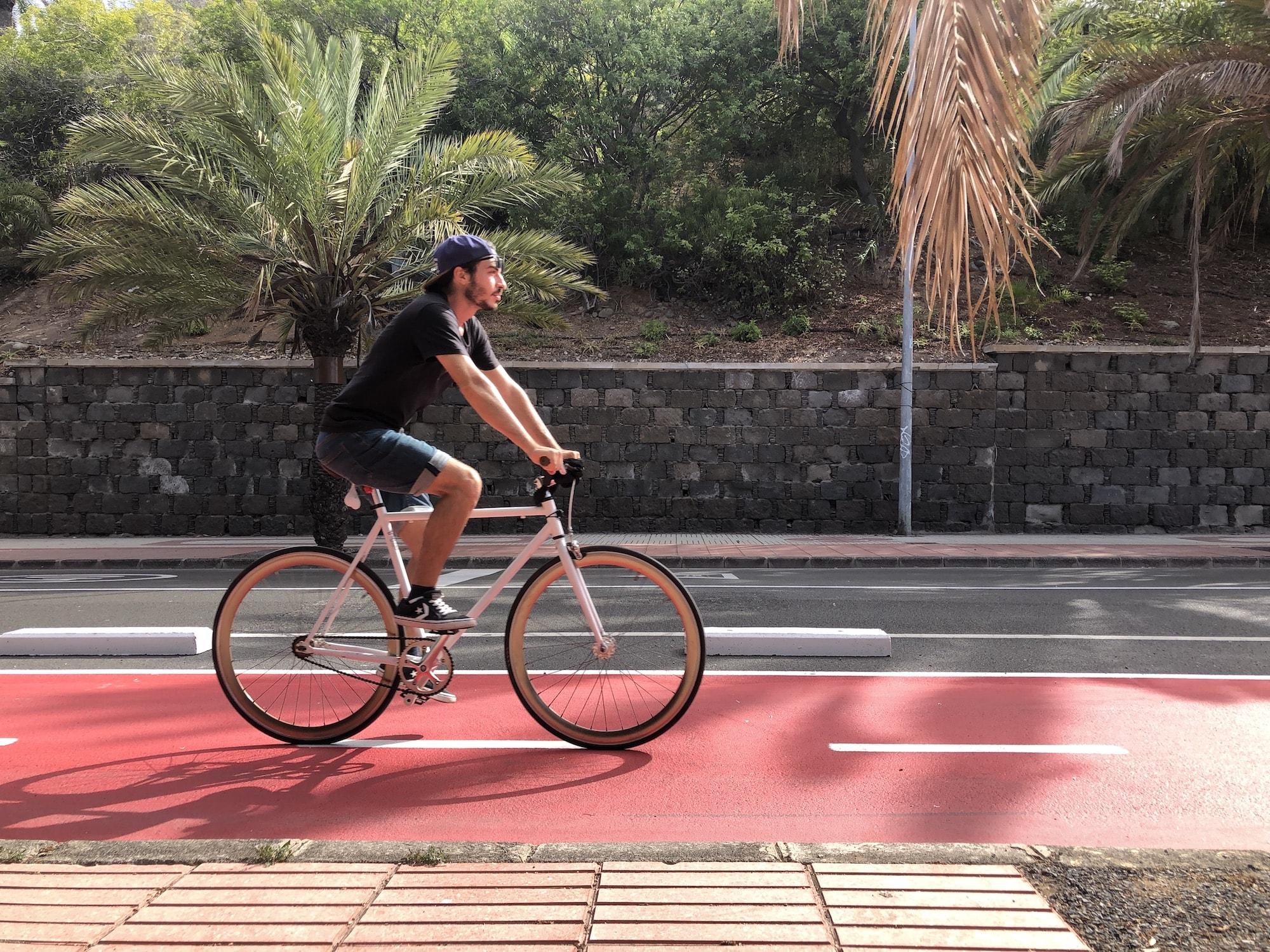 Andrea in bici - Composizione Fotografica