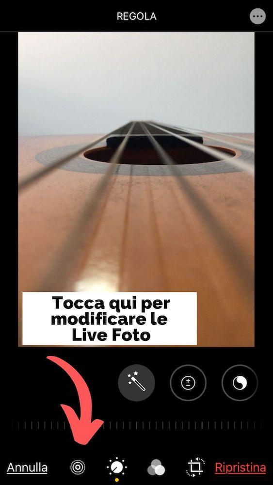 Modifica Live Foto iPhone