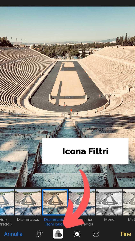 Foto Illustrativa per far vedere l'icona Filtri