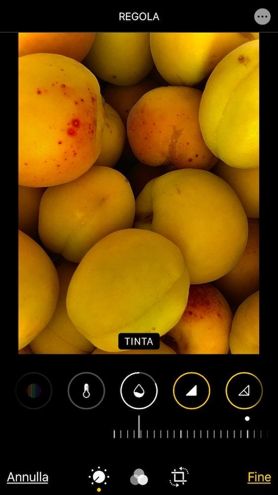 Strumenti modifica foto iPhone