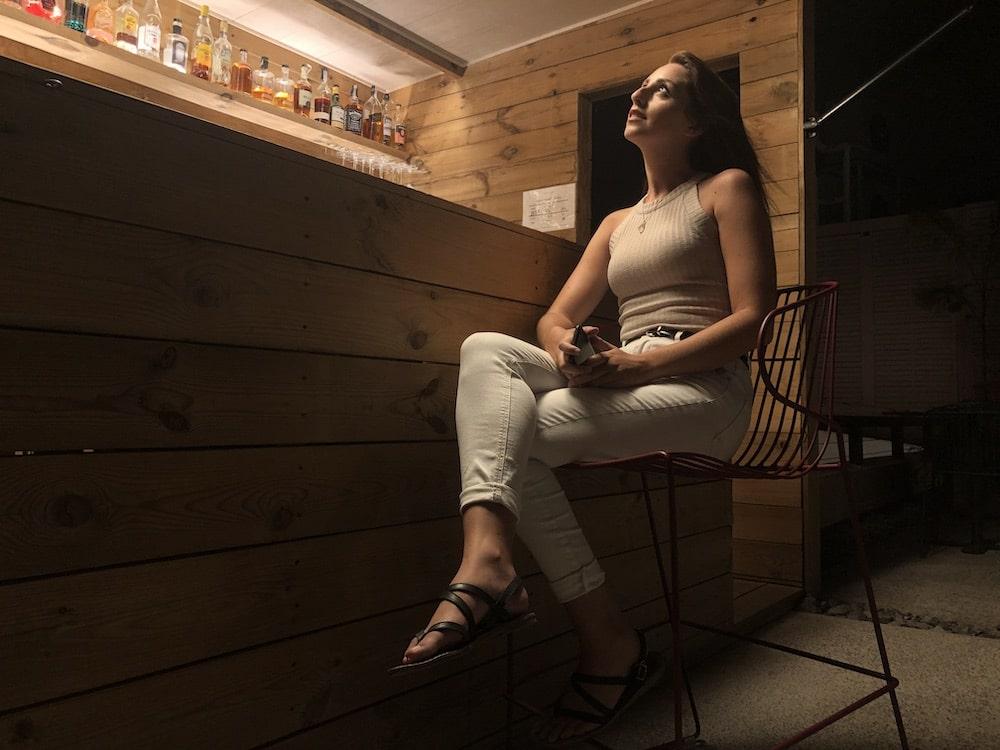 Foto Irene di notte