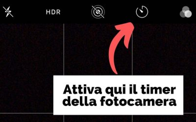 Autoscatto iPhone: quando attivare il timer della fotocamera