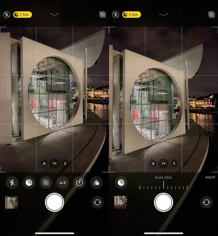 Modalità Notte Foto iPhone