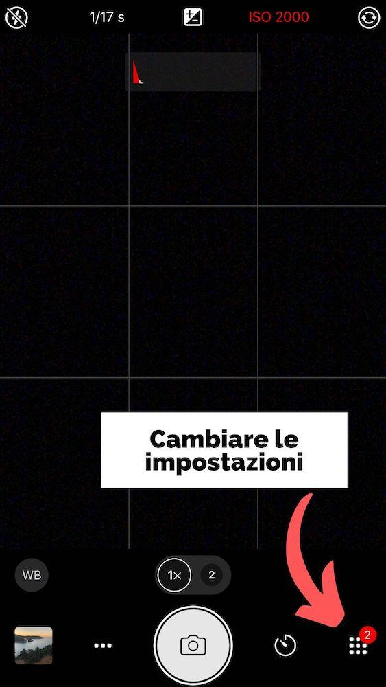 Impostazioni ProCamera