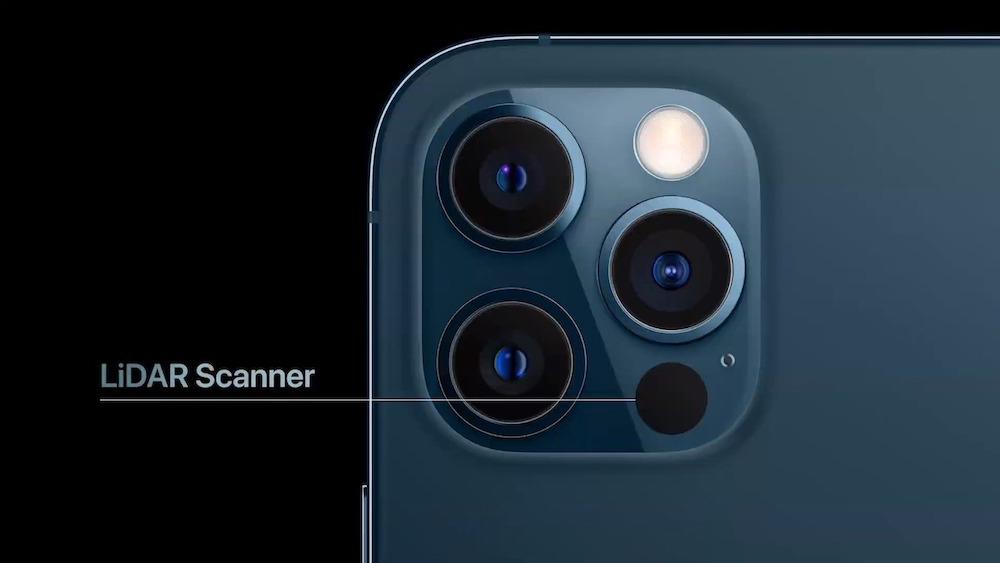 Scanner LiDAR Fotocamera iPhone 12 - fotografia cellulare