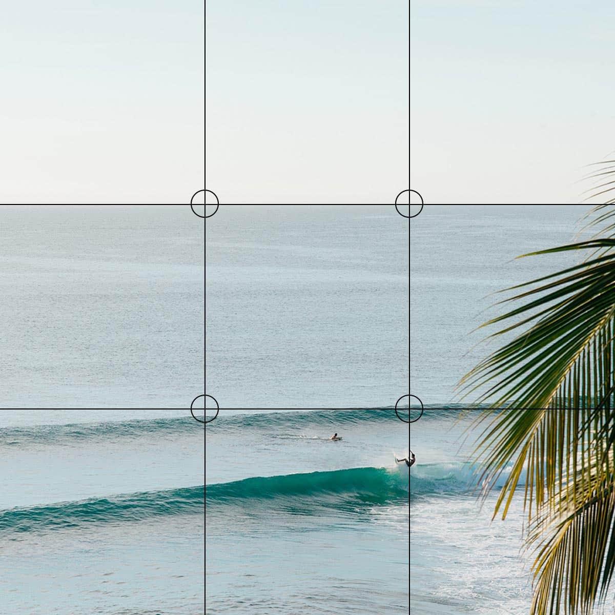 punti focali griglia fotocamera iphone