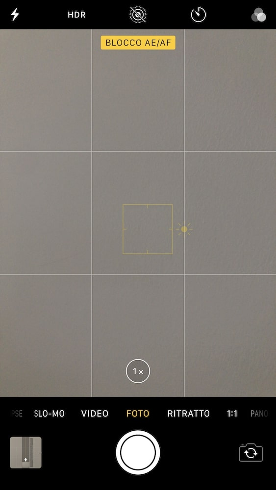 blocco af - foto nitide iphone