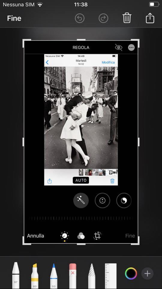 mmodifica schermata iphone