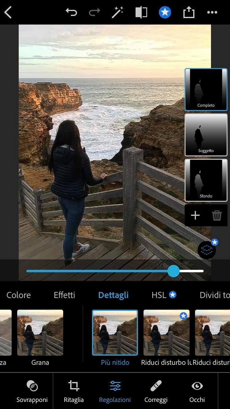 più nitido photoshop iphone