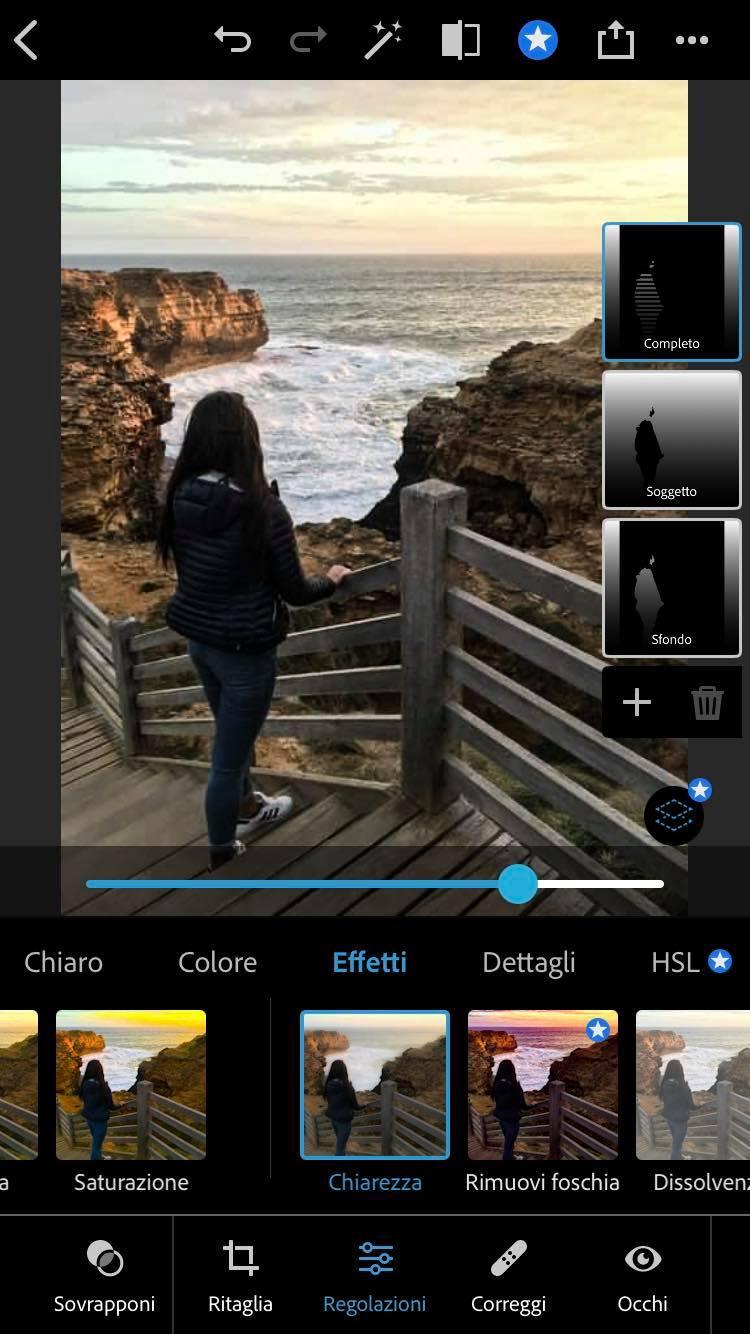 chiarezza photoshop iphone