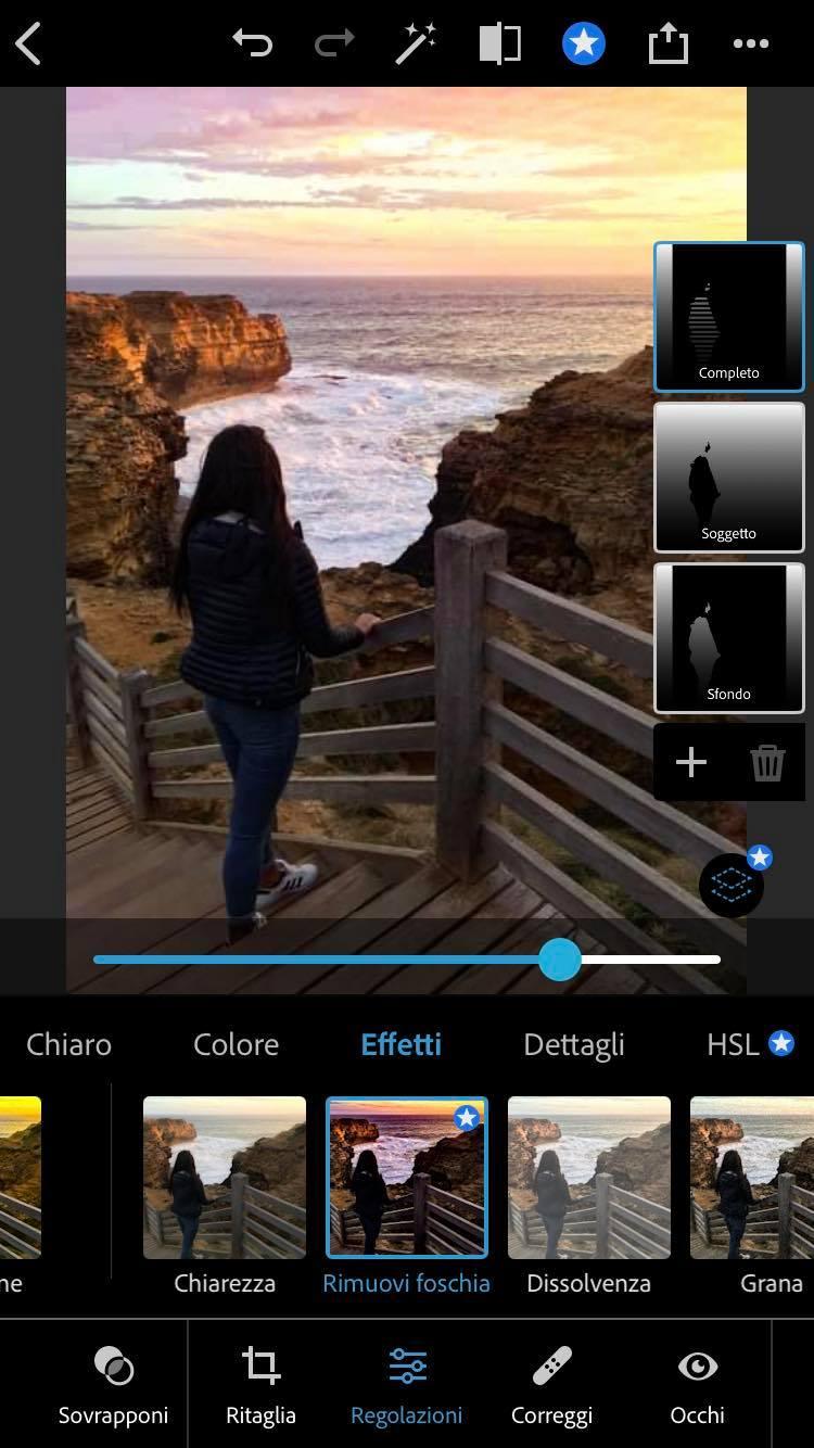 foschia photoshop iphone