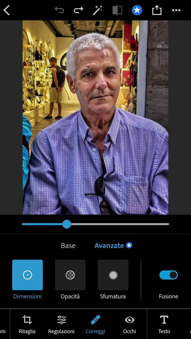 correggi photoshop iphone