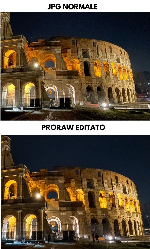 jpg vs proraw notte zoom