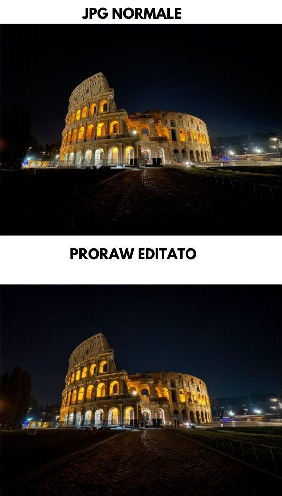 jpg vs proraw notte
