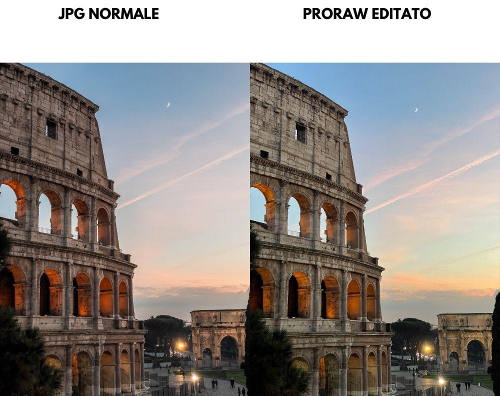 jpg vs raw tramonto